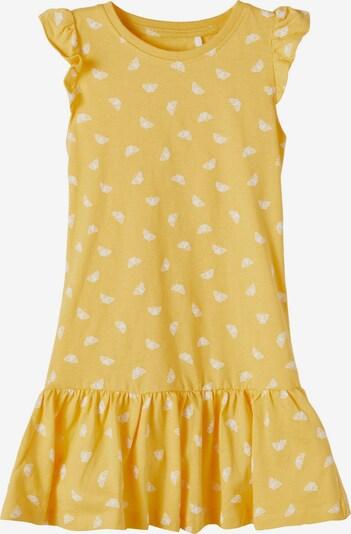 NAME IT Kleid 'Vida' in goldgelb / weiß, Produktansicht