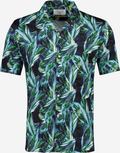 NEW IN TOWN Kurzarmhemd in blau / mischfarben, Produktansicht