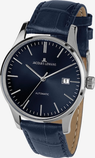 Jacques Lemans Uhr in blau / schwarz / silber, Produktansicht
