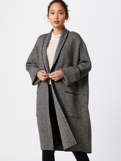 s.Oliver BLACK LABEL Strickjacke in grau / schwarz, Modelansicht