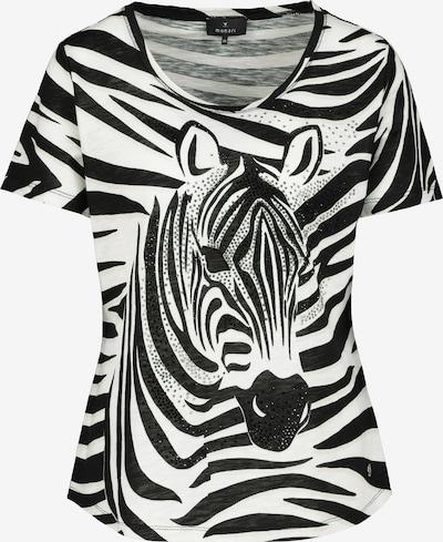 monari T-shirt en noir / blanc cassé, Vue avec produit