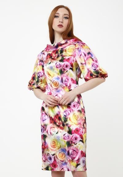 Madam-T Kleid 'Kantalia' in mischfarben, Modelansicht