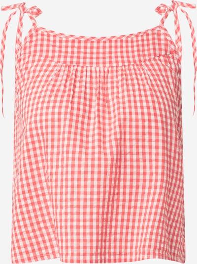 AERIE Schlaftop 'SEERSUCKER' in rot / weiß, Produktansicht