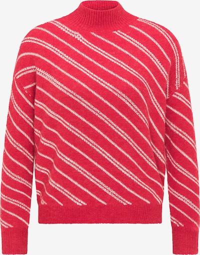 Pulover faina pe roșu / alb, Vizualizare produs