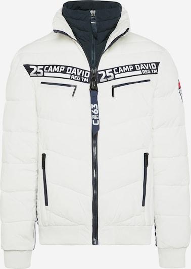 CAMP DAVID Jacke mit Doppelverschluss und Logo Tapes in weiß, Produktansicht