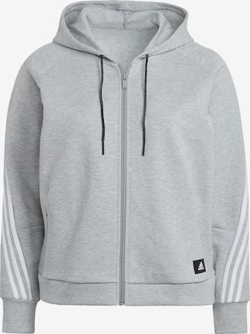 ADIDAS PERFORMANCE Athletic Zip-Up Hoodie in Grey