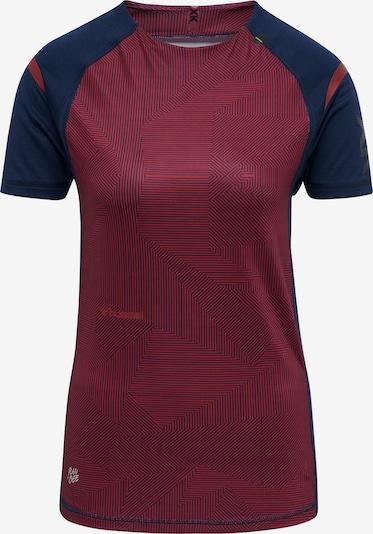 Hummel T-shirt fonctionnel 'hmlPRO XK PRE GAME' en bleu marine / bordeaux / noir, Vue avec produit