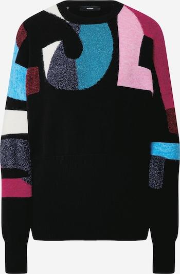DIESEL Pulover 'MYSTIC' u plava / roza / tamno crvena / bijela, Pregled proizvoda