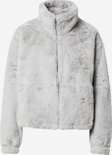 NEW LOOK Prechodná bunda 'THEO FUNNEL NECK FUR' - sivá / svetlosivá: Pohľad spredu