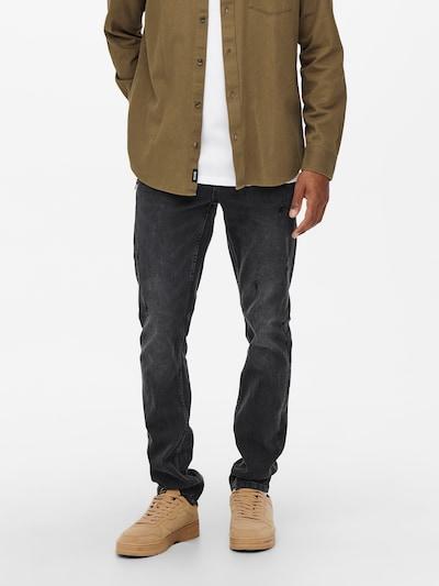 Only & Sons Jeans 'Loom' in de kleur Black denim, Modelweergave