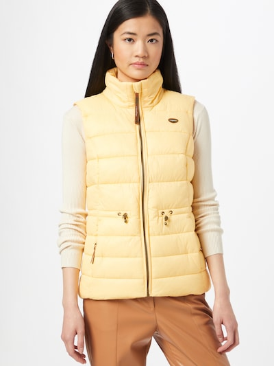 Ragwear Vest in Yellow, View model