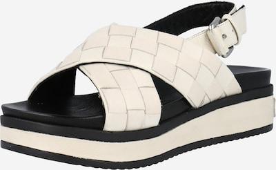 Sandale SHABBIES AMSTERDAM pe alb murdar, Vizualizare produs