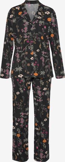 LASCANA Pyjama in de kleur Donkergrijs / Gemengde kleuren, Productweergave
