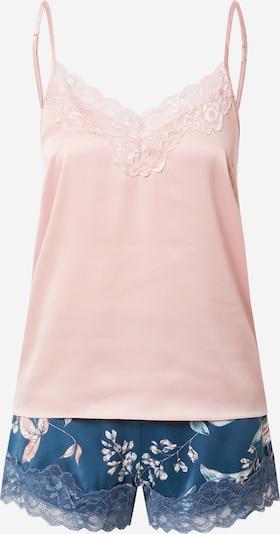 ESOTIQ Piżama 'Dearly' w kolorze turkusowy / różowy pudrowym, Podgląd produktu