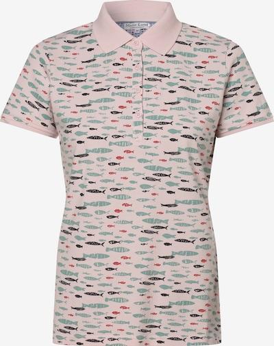 Marie Lund Poloshirt in jade / altrosa / rot / schwarz, Produktansicht