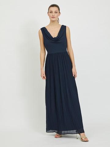 VILA Evening Dress 'Micada' in Blue
