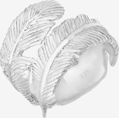 ELLI Wickelring 'Feder' in silber, Produktansicht