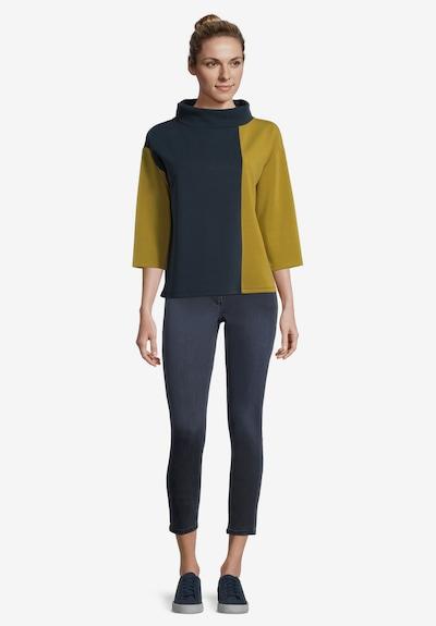 Betty Barclay Casual-Sweatshirt mit Kragen in dunkelblau / gelb: Frontalansicht