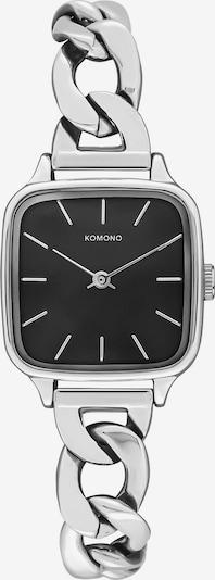 Komono Uhr in schwarz / silber, Produktansicht