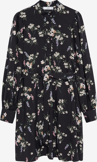 MANGO Robe-chemise 'Noela' en mélange de couleurs / noir, Vue avec produit