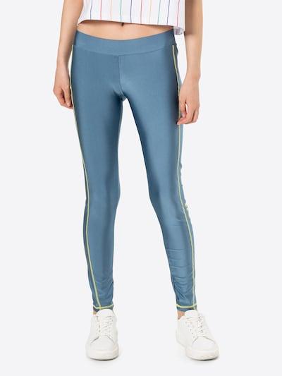 Karl Kani Leggings 'Retro' in de kleur Donkerblauw / Geel, Modelweergave