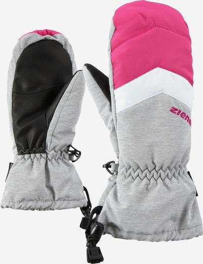 ZIENER Skihandschuh 'LETTERO AS(R) MITTEN Junior' in grau / pink, Produktansicht
