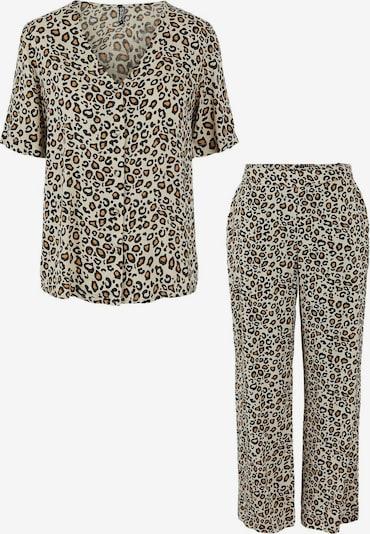 Pieces Maternity Pyjama 'Manja' en mastic / marron / noir, Vue avec produit