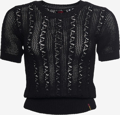 Superdry Strickpullover 'Bella Pointelle' in schwarz, Produktansicht