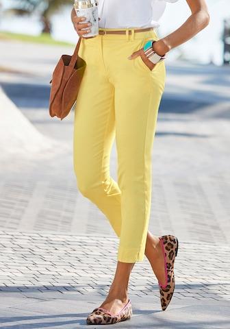 Pantaloni chino di VIVANCE in giallo