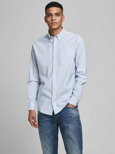 JACK & JONES Hemd 'JJEOXFORD' in blau / weiß: Frontalansicht