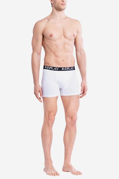 REPLAY Trunks in grau / weiß, Modelansicht