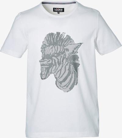 LOOKS by Wolfgang Joop T-Shirt ' Zebra-Print ' in silber / weiß, Produktansicht