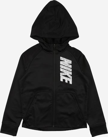 NIKE Sports sweat jacket in Black