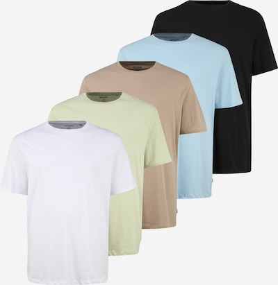 Jack & Jones Plus Tričko - světlemodrá / světle hnědá / světle zelená / černá / bílá, Produkt