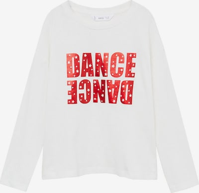 MANGO KIDS Shirt 'DANCER' in rot / weiß, Produktansicht