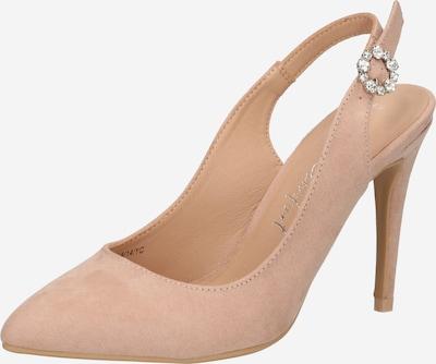 NEW LOOK Vaļējas augstpapēžu kurpes 'WEAVE', krāsa - pūderis, Preces skats