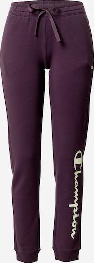 Champion Authentic Athletic Apparel Pantalon en violet foncé / blanc, Vue avec produit