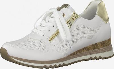 MARCO TOZZI Låg sneaker i guld / vit, Produktvy