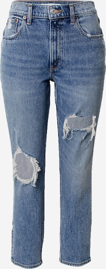 Abercrombie & Fitch Jean 'MED KNEE BLOWOUT HR MOM ' en bleu denim, Vue avec produit