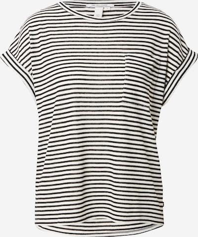 Q/S designed by T-Shirt in schwarz / weiß, Produktansicht