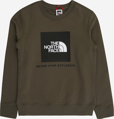 THE NORTH FACE Sportsweatshirt in khaki / schwarz / weiß, Produktansicht