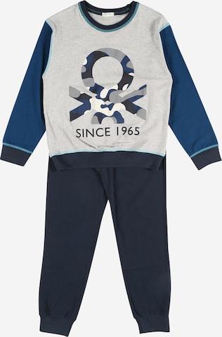 UNITED COLORS OF BENETTON Pidžaama, värv sinine