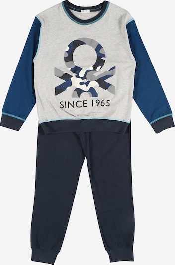 UNITED COLORS OF BENETTON Pajamas in Navy / Night blue / Light blue / Grey / White, Item view