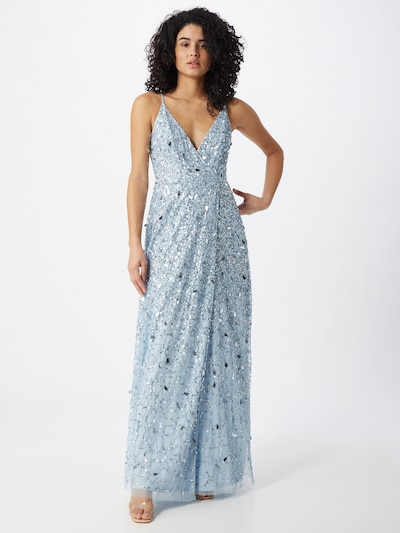 LACE & BEADS Kleid 'Leah' in hellblau / silber, Modelansicht