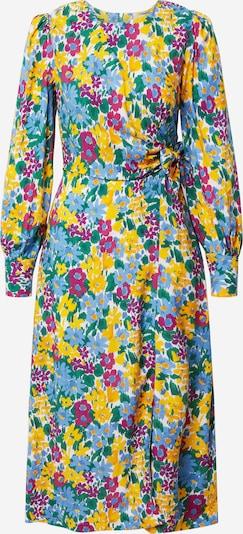 Closet London Kleid in blau / gelb / pitaya, Produktansicht