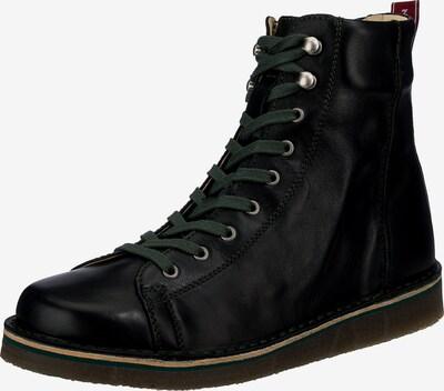 Grünbein Schnürstiefelette in schwarz, Produktansicht