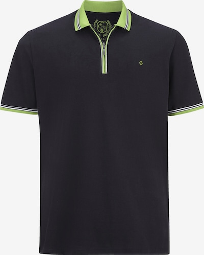 Charles Colby T-Shirt 'Earl Pat' en bleu cobalt / vert clair / blanc, Vue avec produit