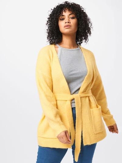 Vero Moda Curve Kardigan 'Julie' - žlutá: Pohled zepředu