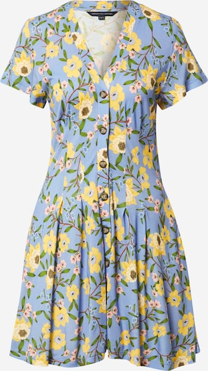 FRENCH CONNECTION Shirt dress 'ELOISE' in Smoke blue / Brown / Yellow / Green / Pink, Item view