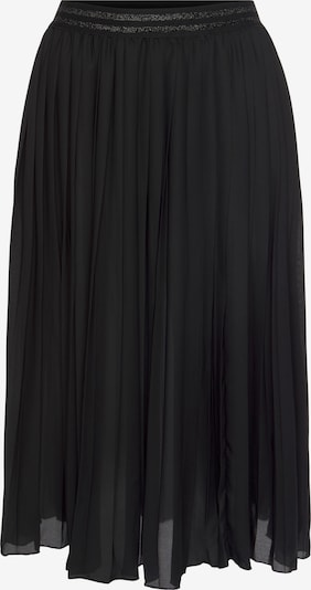 LASCANA Plisseerock in schwarz, Produktansicht